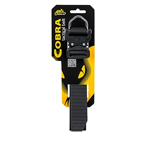 Helikon Men's Cobra D-Ring (FX38) Tactical Belt Black size L (130cm) from Helikon