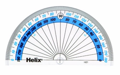 Helix H01040 10cm 180 Degree Protractor from Helix