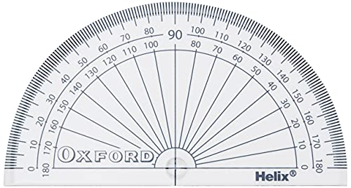 Helix Oxford 10cm 180 degree Protractor from Helix