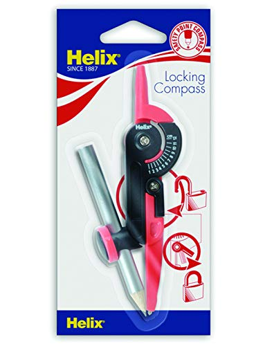 Helix Locking Compass (Assorted Colours) from Helix