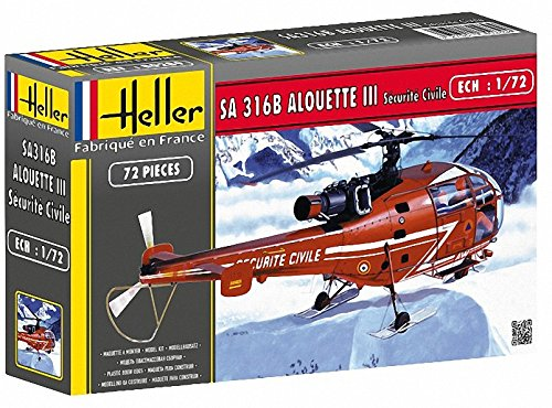 Heller 80289 1:72 Scale SA 316B Alouette III Securite Civile Model from Heller