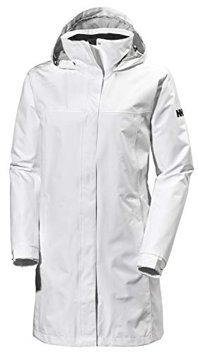 Helly Hansen Women's Aden Long Shell Waterproof Jacket, White, X-Large from Helly Hansen