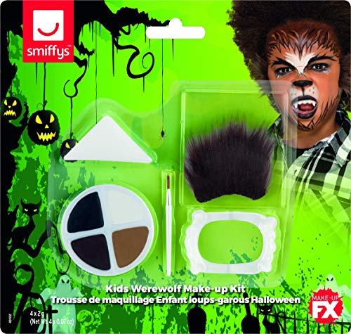 Smiffys Kids Halloween Werewolf Make Up Kit, Aqua from Smiffys