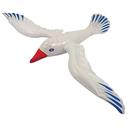 1 x Large Inflatable 76cm SeaGull Bird Hawaiian Beach Fancy Dress Party Accessory from Henbrandt
