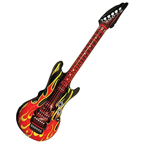 Henbrandt 2 x Flame Red / Black Inflatable Electric Rock Guitars 106 cm from Henbrandt