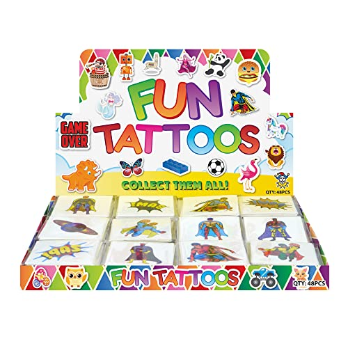 24 Temporary super hero tattoos children kids goody party pinatta fillers from Henbrandt