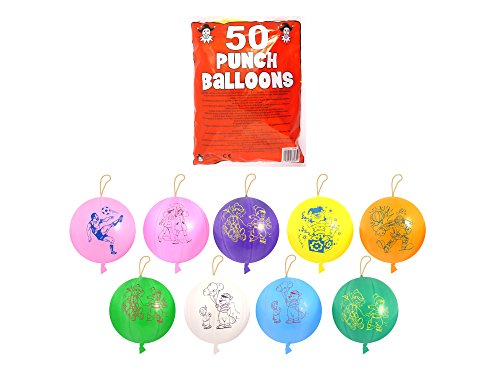 Henbrandt 50 x PUNCH BALL BALLOONS CHILDREN'S FUN BALLOONS from HENBRANDT