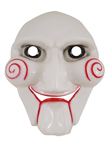 Adults Scary Jigsaw Face Mask Halloween Fancy Dress Accessory from Henbrandt