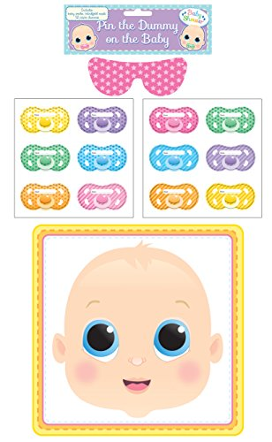 HENBRANDT Baby Shower Party Game Pin The Dummy Pacifier On The Baby from HENBRANDT