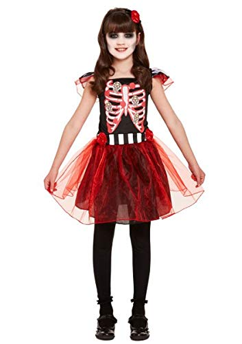 Henbrandt Children's Skeleton Girl Halloween Fancy Dress Costume (Medium / 7-9 Years) from HENBRANDT