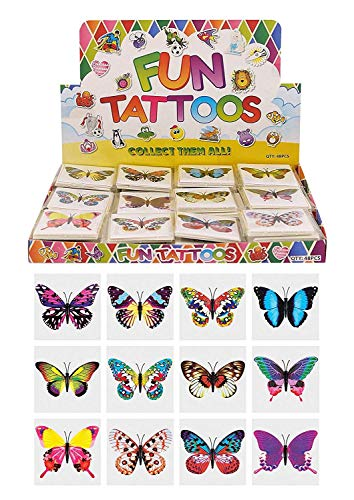 Henbrandt Temporary Tattoo's - BUTTERFLY - 12 x 10 packs = 120 Tattoos supplied from Henbrandt
