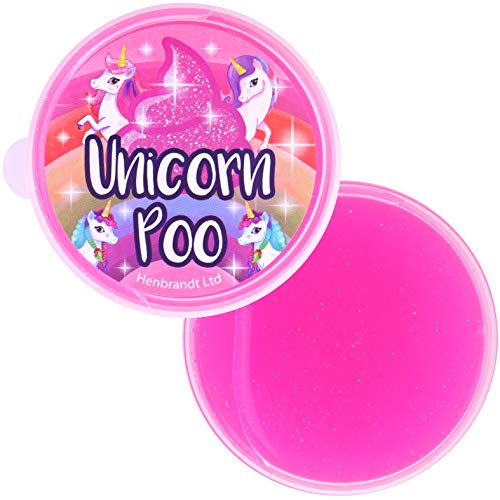Henbrandt Unicorn Poo Pink Glitter Slime Putty Tub Squishy Stress Relief Toy from HENBRANDT
