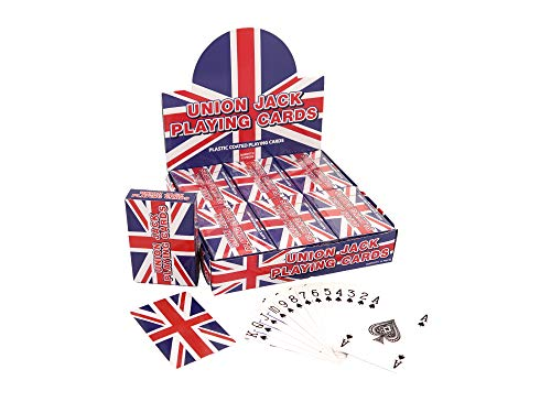 Henbrandt Union Jack Playing Cards (Plastic Coated) Party Bag Fillers (Pack of 3) from HENBRANDT