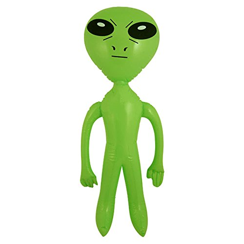 Henbrandt Inflatable Green Alien Sci-Fi 64CM Pack of 2 from Henbrandt