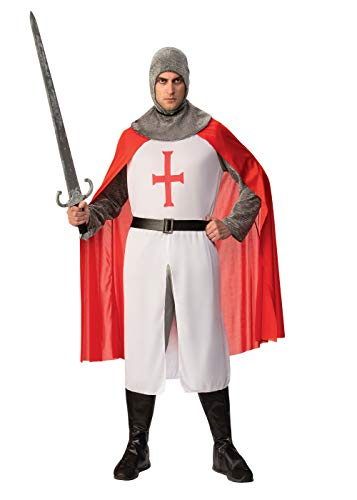 Bristol Novelty AC880 St George Knight Crusader Costume, Red, 44-Inch from Bristol Novelty