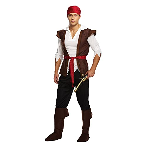 Mens Caribbean Pirate Swashbuckler Fancy Dress Costume Outfit from Henbrandt