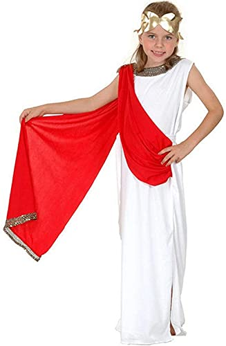 New Roman Greek Goddess. Children's fancy dress costume. Age 7-9 years. 130cm. Red/white dressing up outfit from Henbrandt