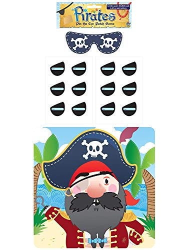 HENBRANDT Stick The Eye Patch On The Pirate Game - Party Childrens Kids Pin Tail Activity from HENBRANDT