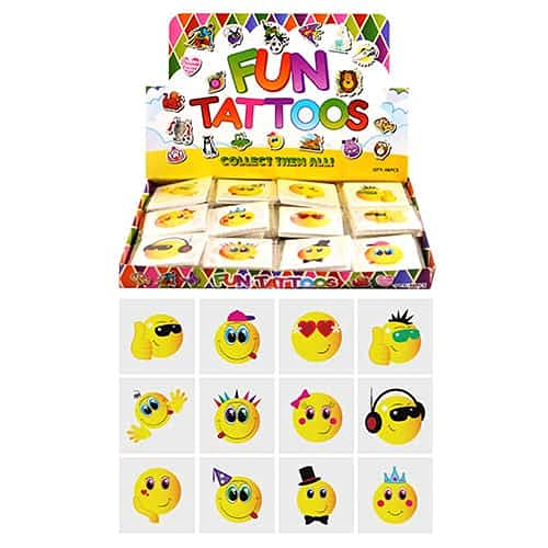 HENBRANDT Smiley Face Tattoos - 12 pack from HENBRANDT