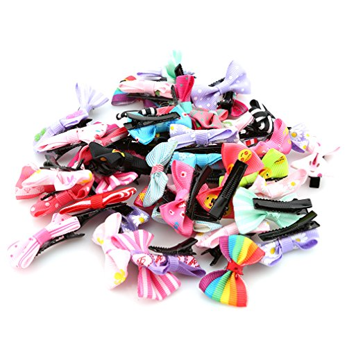 HENGSONG 50PCS Baby Kids Girl Bows Hair Clips Headdress from Hengsong