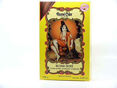 Golden Blonde Henne Natural Henna Hair Colouring Dye Powder from Henne Color