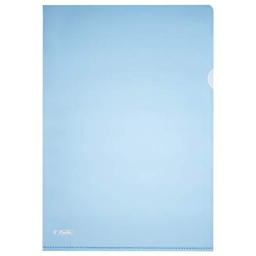 Blue A4 Pyramid-Embossed Document Sleeves. Blue from herlitz