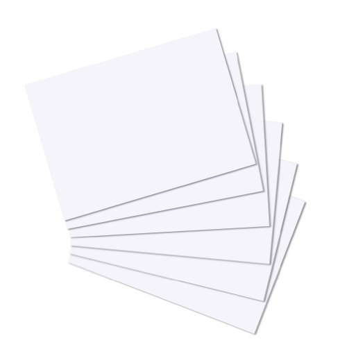 Herlitz A4 Blank Record Card - White (100 Pieces) from herlitz