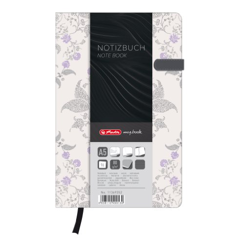 Herlitz A5 My Book Lady Dream Garden Design Hardcover Notebook with Magnetic Closure and Pen Loop from herlitz