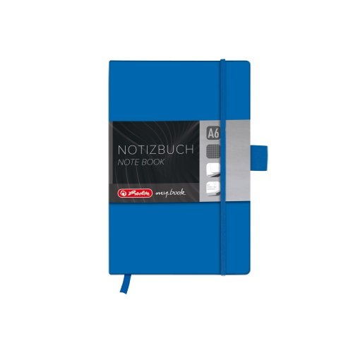 Herlitz A6 Squared My Book Classic Hardcover Notebook with Book Ribbon and Pen Loop - Blue from herlitz