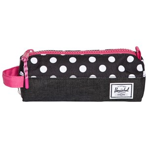 Herschel Supply Co Black and White Polka Dot and Fandango Pink Pencil Case One Size from Herschel Supply Co