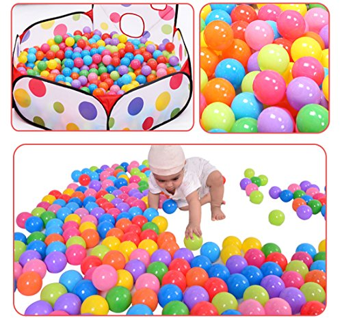 Pit Balls 100 Pack Colorful BPA Free Crush Proof with Mesh Bag For Toddlers Baby Playpen Play Tent House Swim Pool Toys from Hi Suyi