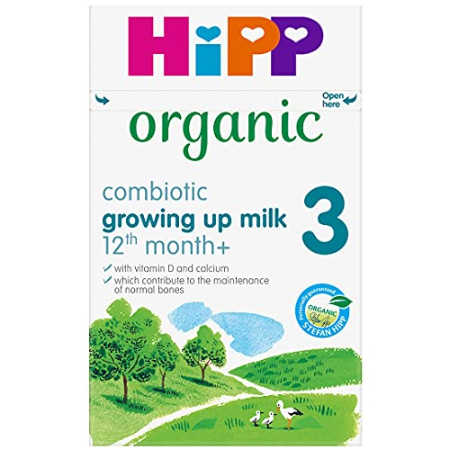 HiPP Organic 3 From 1 year onwards Growing up milk 600g (Pack of 4) from HiPP