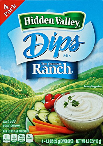 HIDDEN VALLEY THE ORIGINAL RANCH DIPS MIX 1 x 4 PACK ENVELOPES AMERICAN IMPORT from Hidden Valley