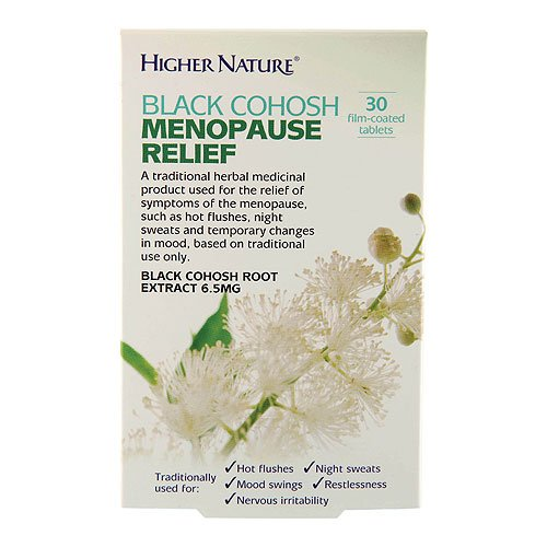 Higher Nature 6.5mg Black Cohosh Menopause Relief - Pack of 30 Tablets from Higher Nature
