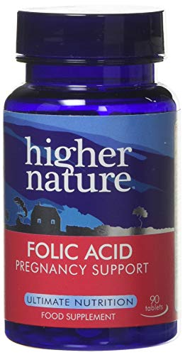 Higher Nature Folic Acid 400µg Pack of 90 from Higher Nature