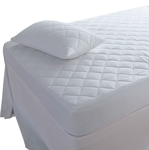 Highliving Quilted Mattress Protector, Extra Deep, All Sizes (Pillow Protector Pair (48 × 78 cm)) from Highliving