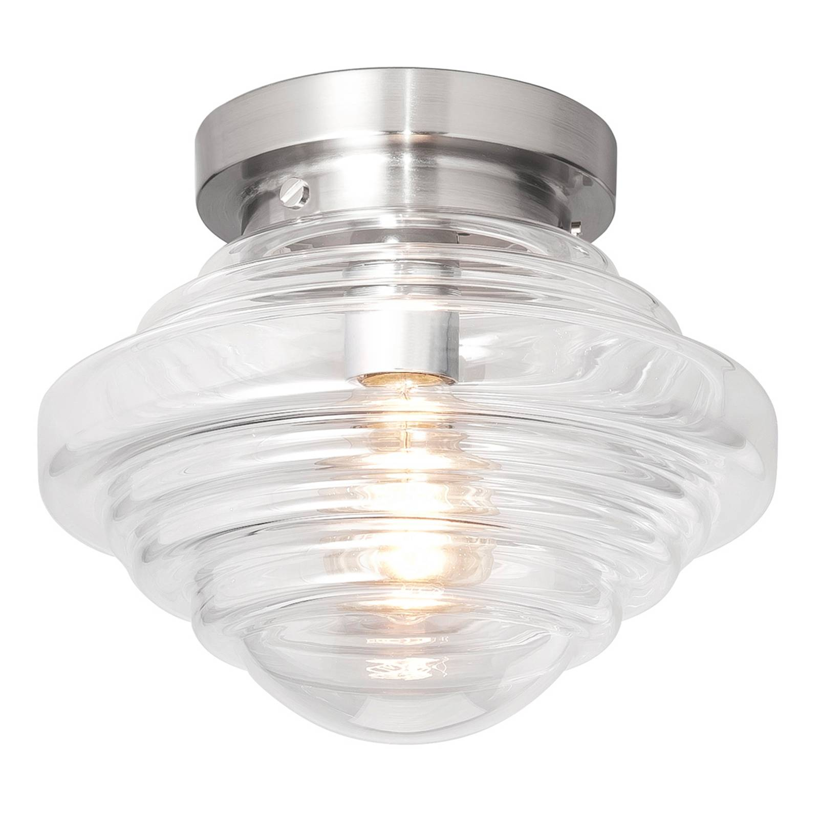 York glass ceiling light with a clear lampshade from Hight Light B.V.