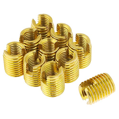 10pcs M8 x M5 x 10mm Self Tapping Threaded Insert Nuts 302 Slotted Type Screw Bushing For Thread Repair from Hilitand