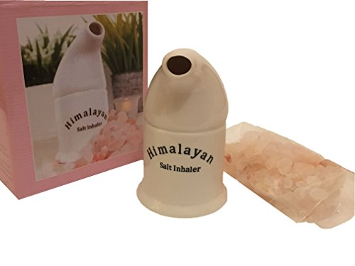 Natural Ceramic Salt Inhaler & Pink Himalayan Salt 200g from Himalayan Salt