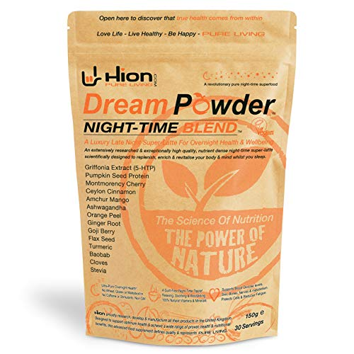 Hion Dream Powder - Night-TIME Blend. 150g | 30 Servings | Revitalise & Balance Both Your Body & Mind While You Sleep. from Hion