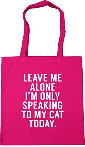 HippoWarehouse Leave me alone I'm speaking to my cat today Tote Shopping Gym Beach Bag 42cm x38cm, 10 litres from Hippowarehouse