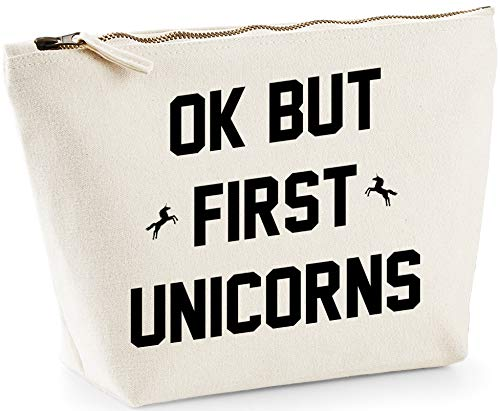 Hippowarehouse But first unicorns printed make up cosmetic wash bag 18x19x9cm from Hippowarehouse