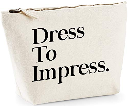 Hippowarehouse Dress To Impress printed make up cosmetic wash bag 18x19x9cm from Hippowarehouse