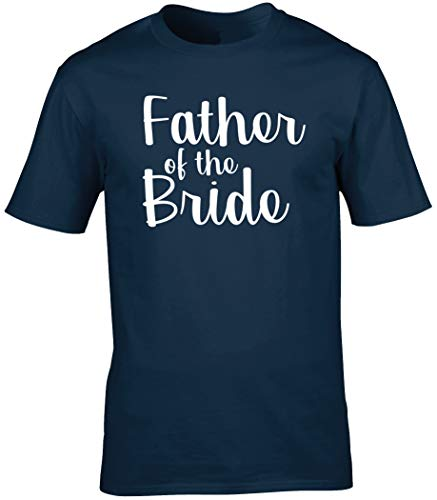 Hippowarehouse Father of The Bride Unisex Short Sleeve t-Shirt (Specific Size Guide in Description) Navy Blue from Hippowarehouse
