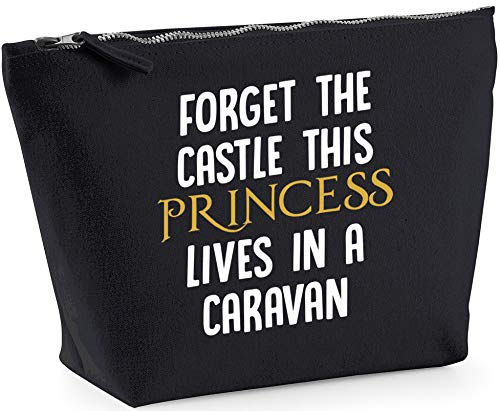 Hippowarehouse Forget the castle this princess lives in a caravan printed make up cosmetic wash bag 18x19x9cm from Hippowarehouse