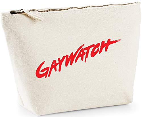 Hippowarehouse Gaywatch Gay Lesbian LGBT printed make up cosmetic wash bag 18x19x9cm from Hippowarehouse