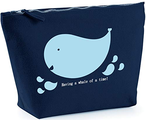 Hippowarehouse Having a whale of a time printed make up cosmetic wash bag 18x19x9cm from Hippowarehouse