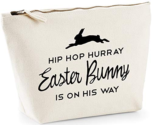 Hippowarehouse Hip hop hurray easter bunny is on his way printed make up cosmetic wash bag 18x19x9cm from Hippowarehouse