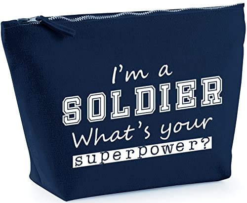 Hippowarehouse HippoWarehouseI'm a Soldier What's Your Superpower? printed make up cosmetic wash bag 18x19x9cm from Hippowarehouse