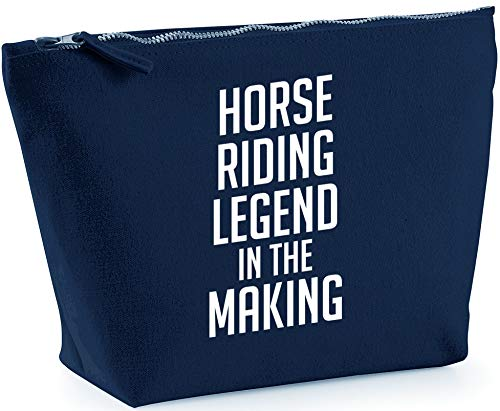 Hippowarehouse Horse riding legend in the making printed make up cosmetic wash bag 18x19x9cm from Hippowarehouse